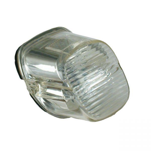 Laydown a-licht glas / Laydown rearlight lens Smoke '73-'98