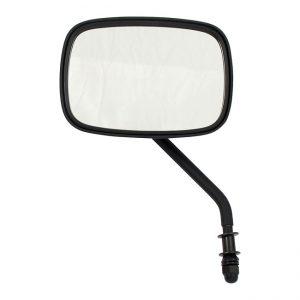 Zwarte spiegel, korte steel. Rechts / Black mirror, short stem. Right.