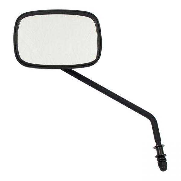Zwarte spiegel, lange steel. Links / Black mirror, long stem. Left.