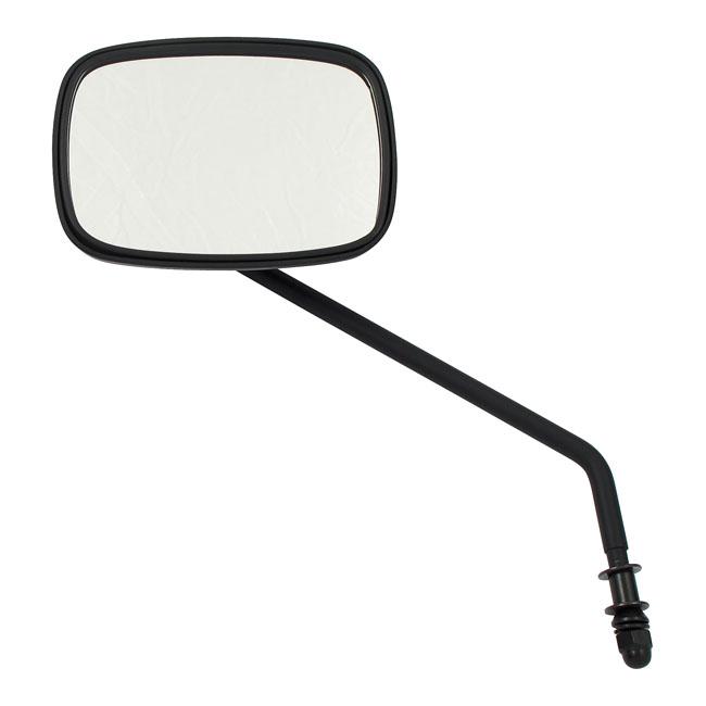 Zwarte spiegel, lange steel. Rechts / Black mirror, long stem. Right