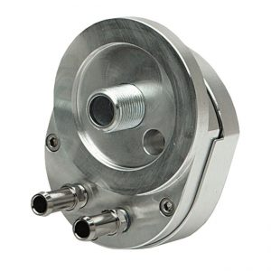Offset oil filter adapter TwinCam with thermostat