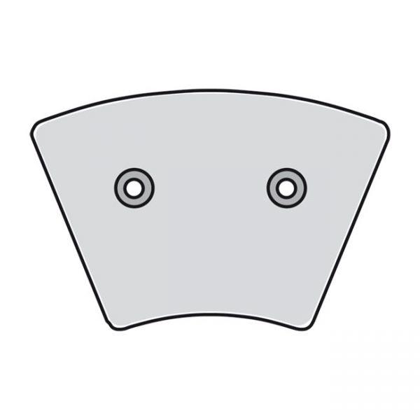 Remblok set / Brake pad set FX / XL '74-'77