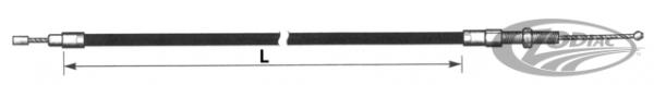 """Koppeling kabel 4""""overmaat / Clutch cable 4""""oversize FL/FX 4spd 68-84 Barnett"""