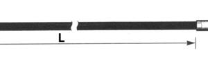 Koppeling kabel / Clutch cable FL/FX 4 speed '68-'84