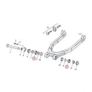 Lager achtervork / Bearing swingarm K/KH/XL '52-e'74