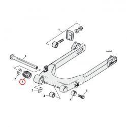 Lager achtervork / Swing-arm bearing XL '00-'03