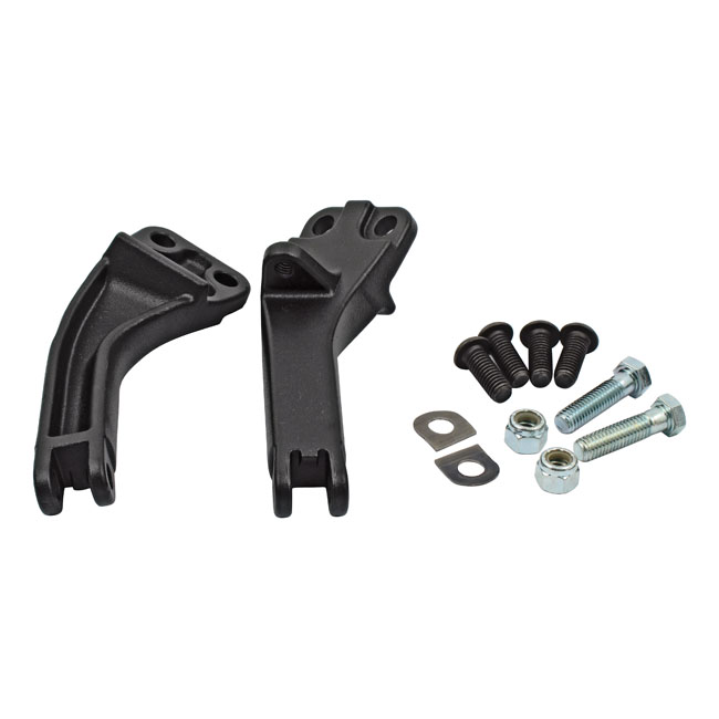 Duo step montage set / Passenger pegs mount kit Dyna '06-'14