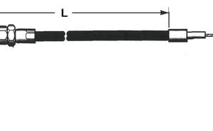 "Gaskabel / Trottle cable 76-80 15cm overmaat / 6""overstock"