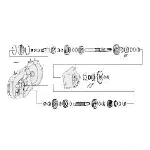 4 Versnellings bak / 4 speed gearbox '54 - '90